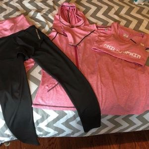 Other - Activewear Set Shirt Sports Bra, Pants, and Jacket